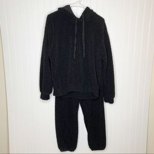 Wild Fable Black Sherpa Pile Matching Outfit S/M